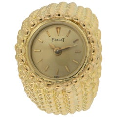 Rarely Seen 18 Karat Yellow Gold Piaget Ring Watch