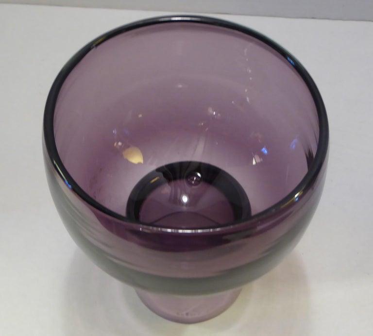 Rarely Seen 1950s Wayne Husted Blenko Chalice Vase For Sale 1
