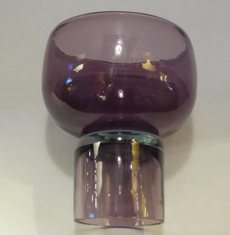 Rarely Seen 1950s Wayne Husted Blenko Chalice Vase For Sale 3