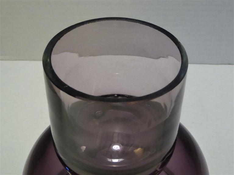 Rarely Seen 1950s Wayne Husted Blenko Chalice Vase For Sale 4
