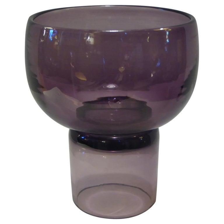 Rarely Seen 1950s Wayne Husted Blenko Chalice Vase For Sale