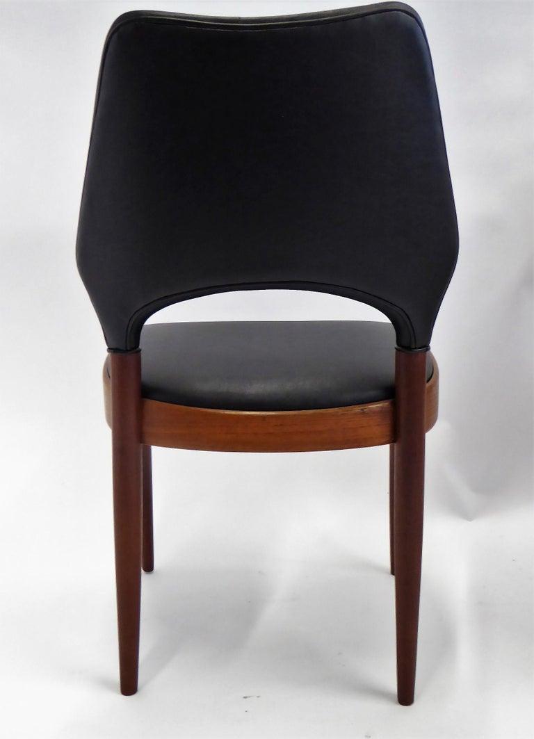Rarely Seen 1958 Arne Hovmand Olsen Chairs for Mogens Kold, Denmark For Sale 3