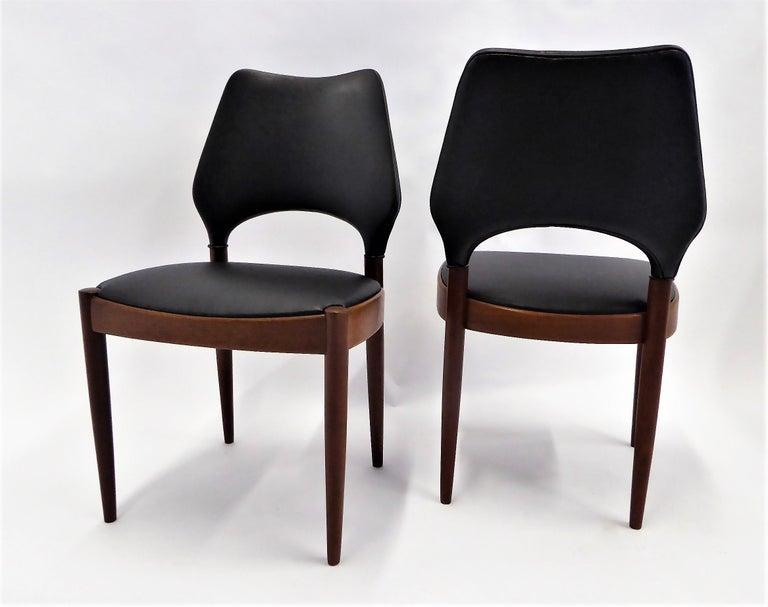 Rarely Seen 1958 Arne Hovmand Olsen Chairs for Mogens Kold, Denmark For Sale 5