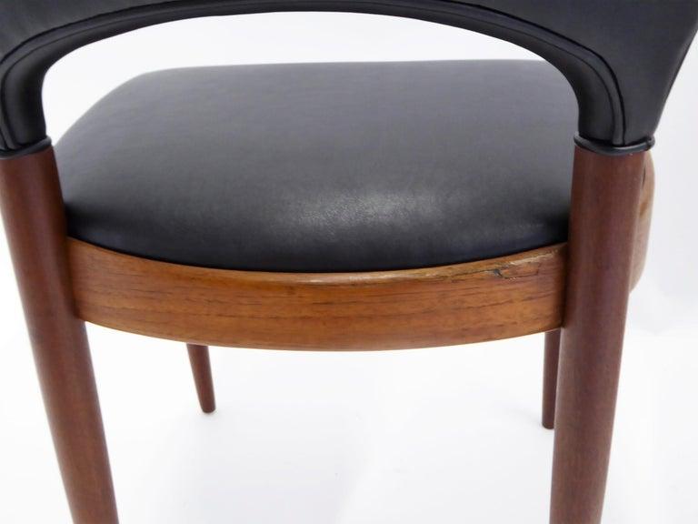 Rarely Seen 1958 Arne Hovmand Olsen Chairs for Mogens Kold, Denmark For Sale 6