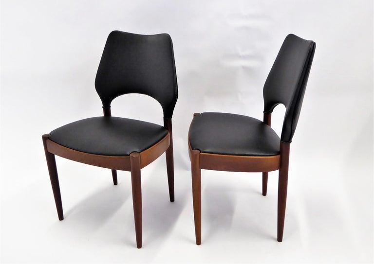 Scandinavian Modern Rarely Seen 1958 Arne Hovmand Olsen Chairs for Mogens Kold, Denmark For Sale