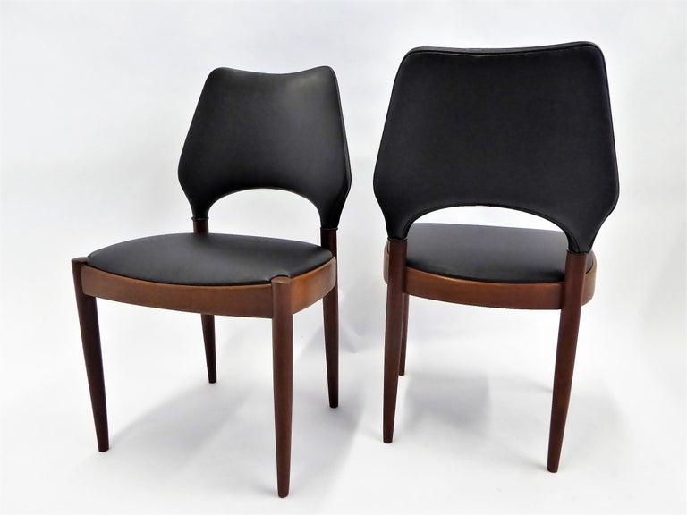Danish Rarely Seen 1958 Arne Hovmand Olsen Chairs for Mogens Kold, Denmark For Sale