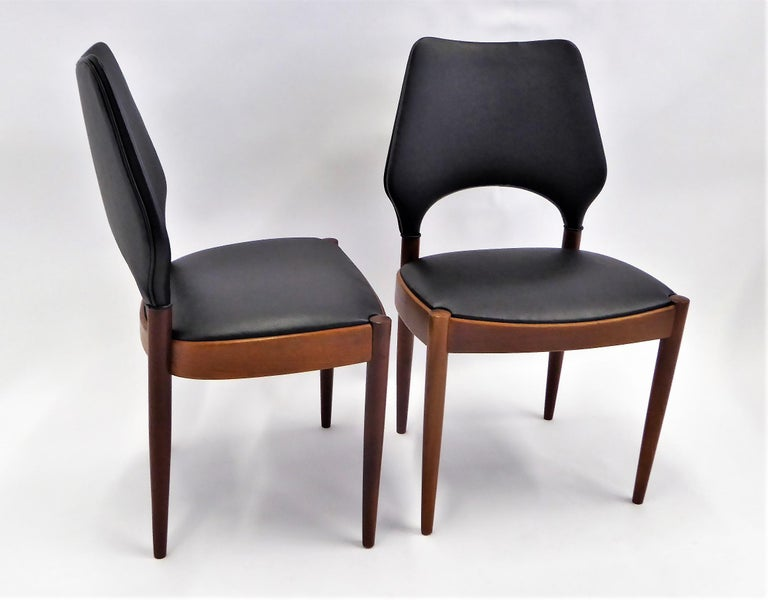 Rarely Seen 1958 Arne Hovmand Olsen Chairs for Mogens Kold, Denmark In Good Condition For Sale In Miami, FL