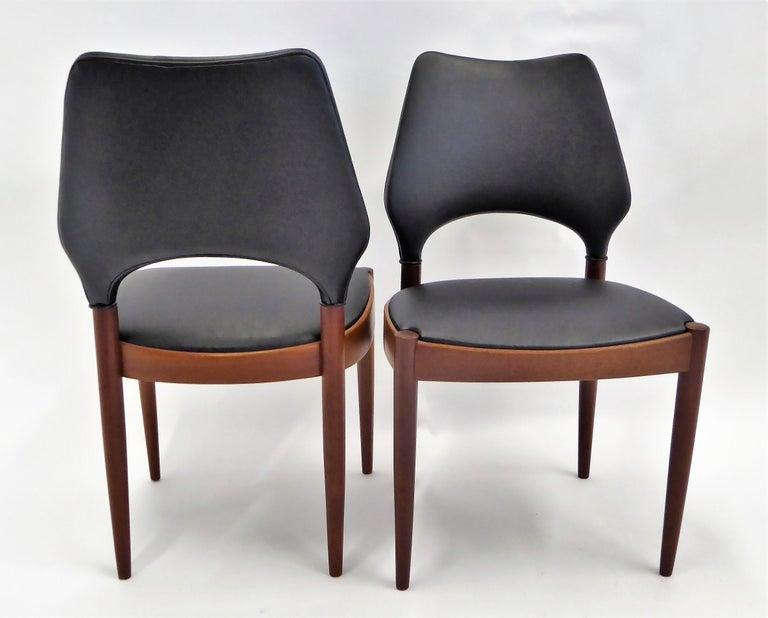 Mid-20th Century Rarely Seen 1958 Arne Hovmand Olsen Chairs for Mogens Kold, Denmark For Sale