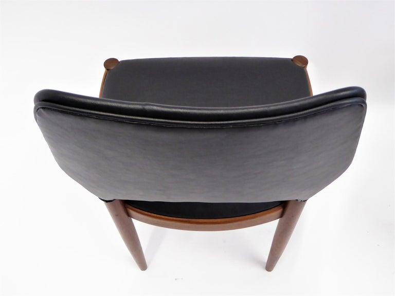 Teak Rarely Seen 1958 Arne Hovmand Olsen Chairs for Mogens Kold, Denmark For Sale