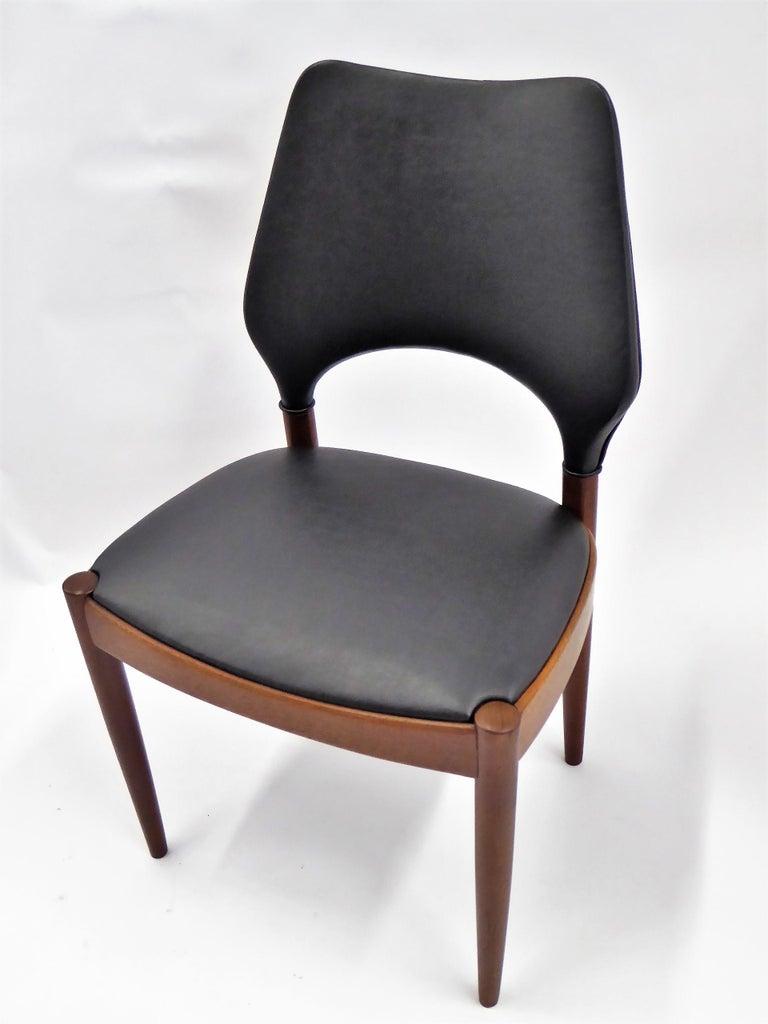 Rarely Seen 1958 Arne Hovmand Olsen Chairs for Mogens Kold, Denmark For Sale 1
