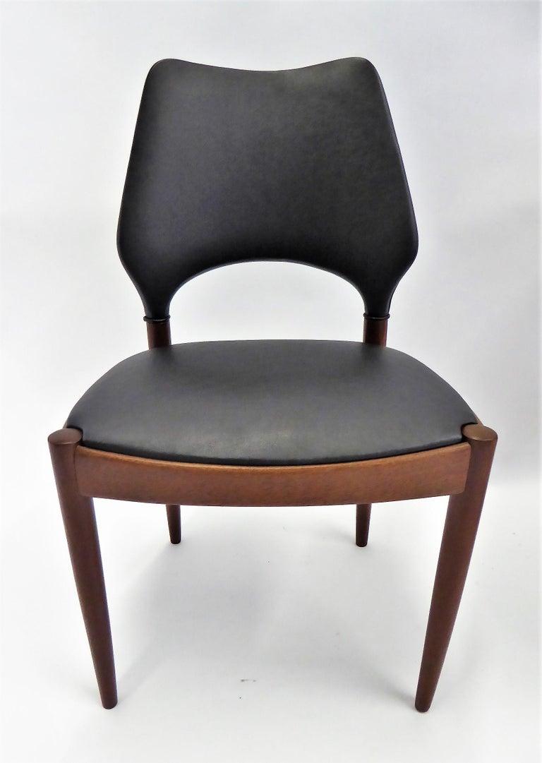 Rarely Seen 1958 Arne Hovmand Olsen Chairs for Mogens Kold, Denmark For Sale 2