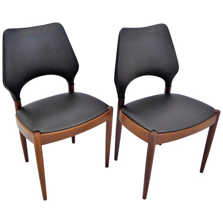 Rarely Seen 1958 Arne Hovmand Olsen Chairs for Mogens Kold, Denmark For Sale