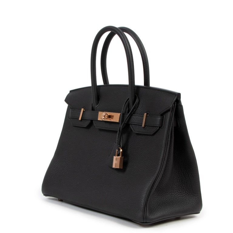 *RARE*Never Used Hermès Birkin 30 Black Togo RHW In New Condition For Sale In Antwerp, BE