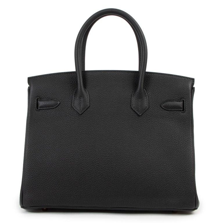 Women's *RARE*Never Used Hermès Birkin 30 Black Togo RHW For Sale