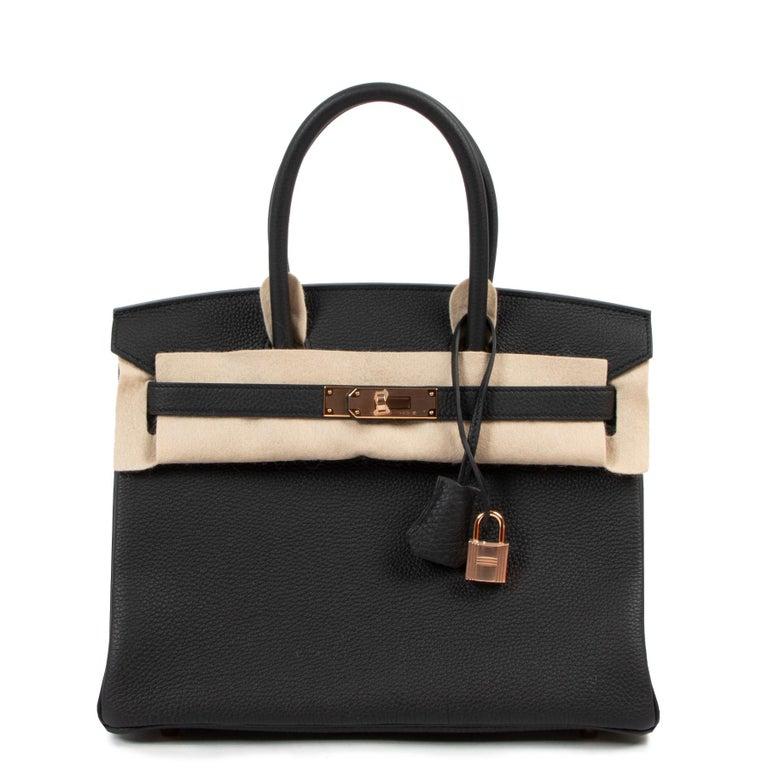 *RARE*Never Used Hermès Birkin 30 Black Togo RHW For Sale 2