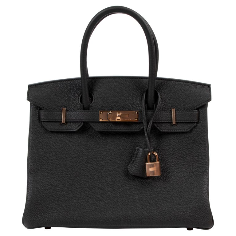 *RARE*Never Used Hermès Birkin 30 Black Togo RHW For Sale