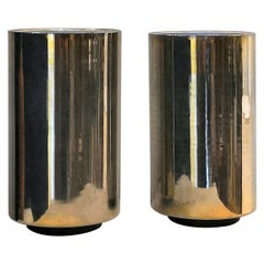 "Rarest Pair of Minimalist ""Corfou"" Lamps by Roger Nathan, France, 1970s"
