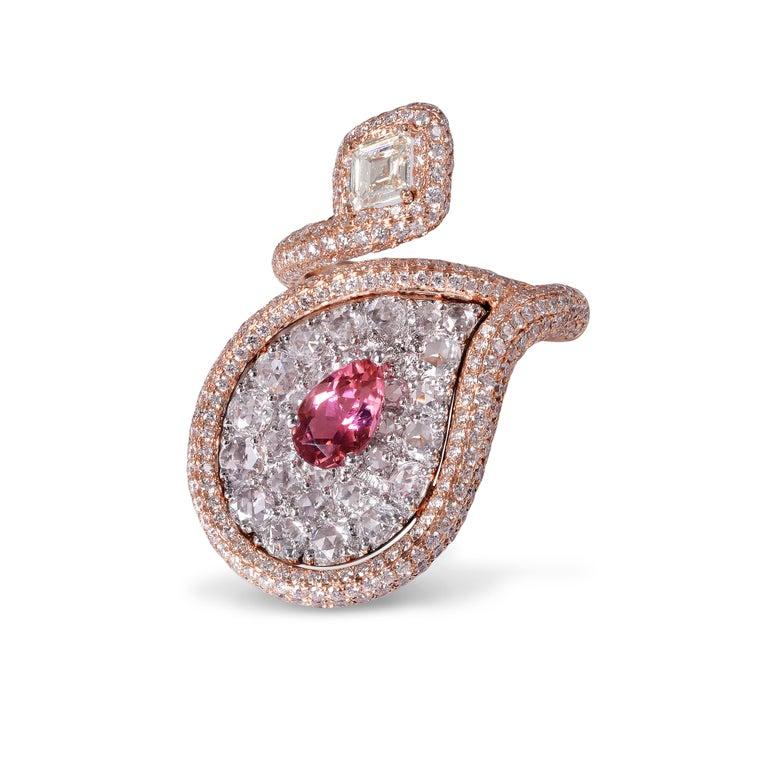 Rarever 3 89 Carat Rose Cut Diamond Fancy Kite Shape