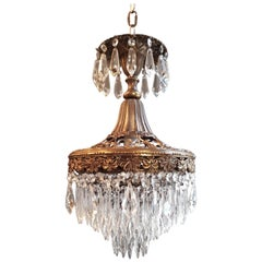 Rarity Fine Chandelier Crystal Lustre Ceiling Lamp Hall Antique Art Nouveau WoW