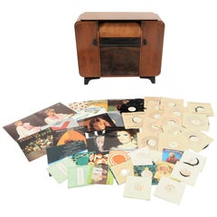 Rarity Record Player from Supraphon Original Plates Included, circa 1958