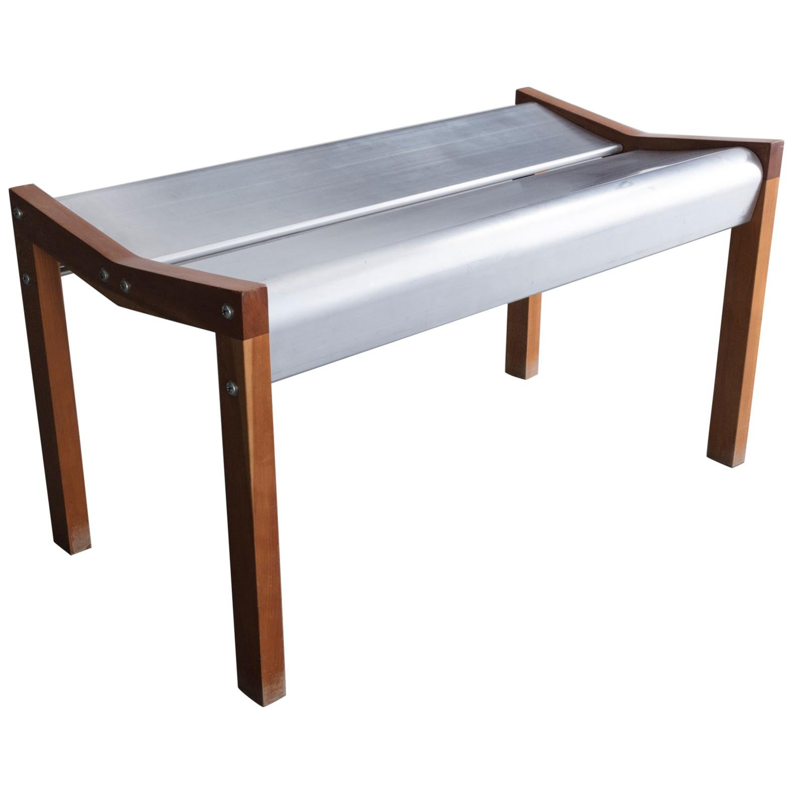 Pleasant Rasamny Bench 2 In Anondized Extruded Aluminum Dark Wood By Ali Tayar 1999 Forskolin Free Trial Chair Design Images Forskolin Free Trialorg
