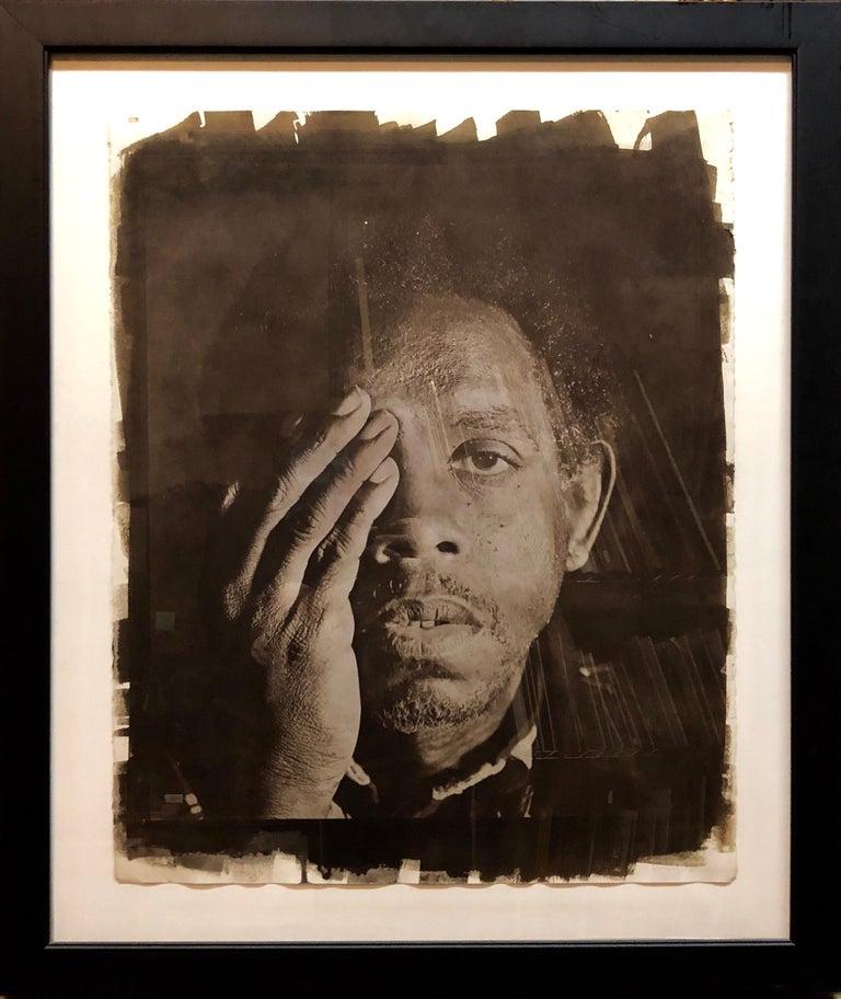 Large Photograph George (Seeing in the Dark Series) Van Dyke Brown Photo Print - Black Black and White Photograph by Rashid Johnson