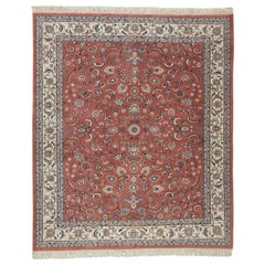 Raspberry Indo Persian Kashan Design Rug