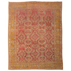 Raspberry Oversize Antique Turkish Oushak