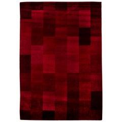 Raspberry Red Vintage Deco Rug