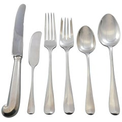 Rat Tail by Tiffany and Co Sterling Silver Flatware Set 12 Service 74 Pieces