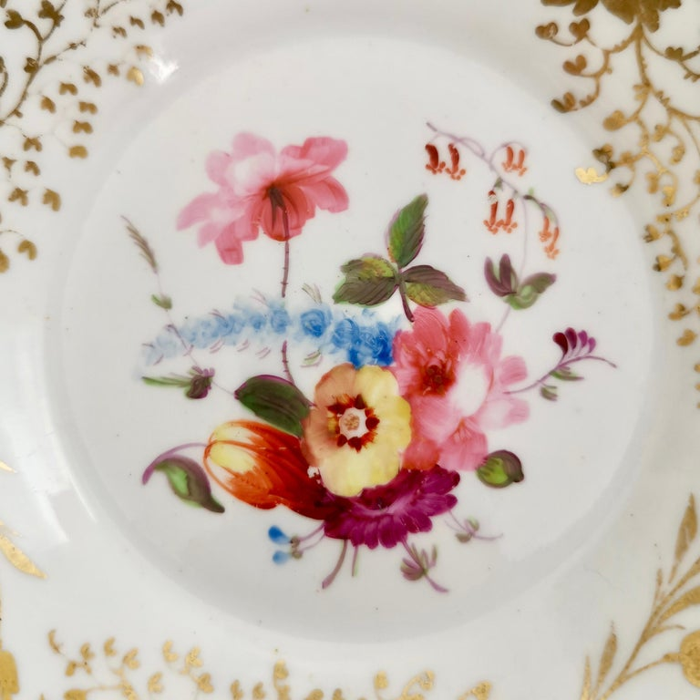 Rathbone Teacup, Hand Painted Flowers, Regency circa 1815 For Sale 3