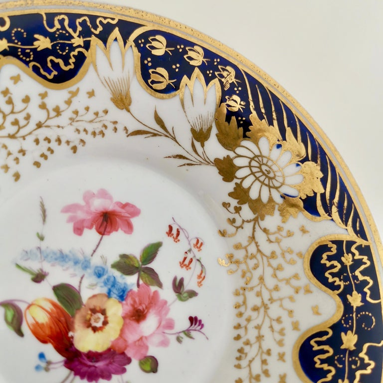 Rathbone Teacup, Hand Painted Flowers, Regency circa 1815 For Sale 4