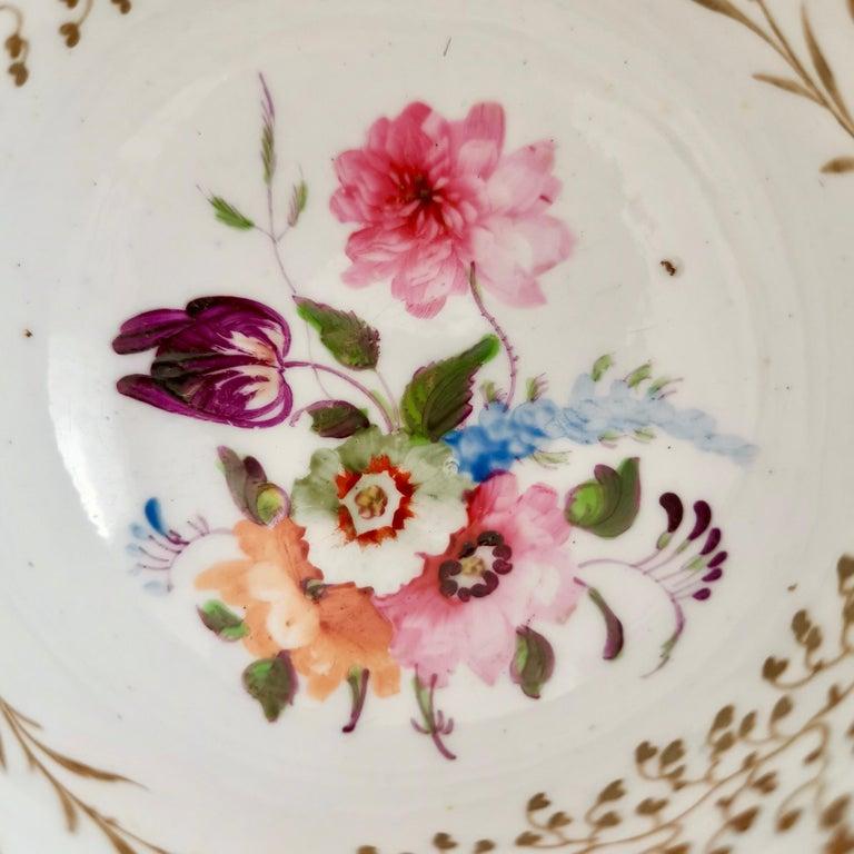 Porcelain Rathbone Teacup, Hand Painted Flowers, Regency circa 1815 For Sale