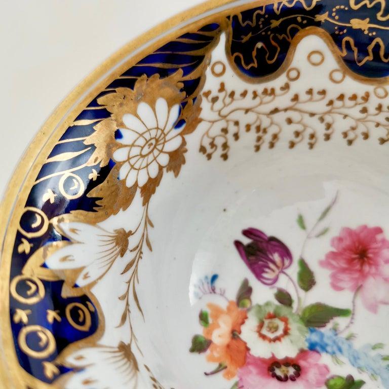 Rathbone Teacup, Hand Painted Flowers, Regency circa 1815 For Sale 1