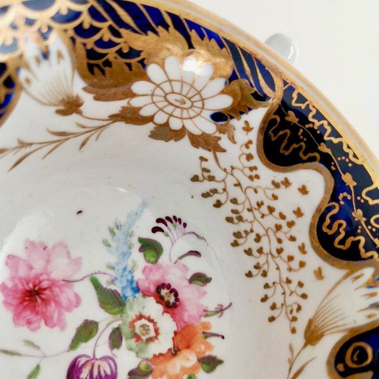 Rathbone Teacup, Hand Painted Flowers, Regency circa 1815 For Sale 2