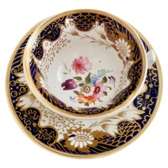 Rathbone Teacup, Hand Painted Flowers, Regency circa 1815