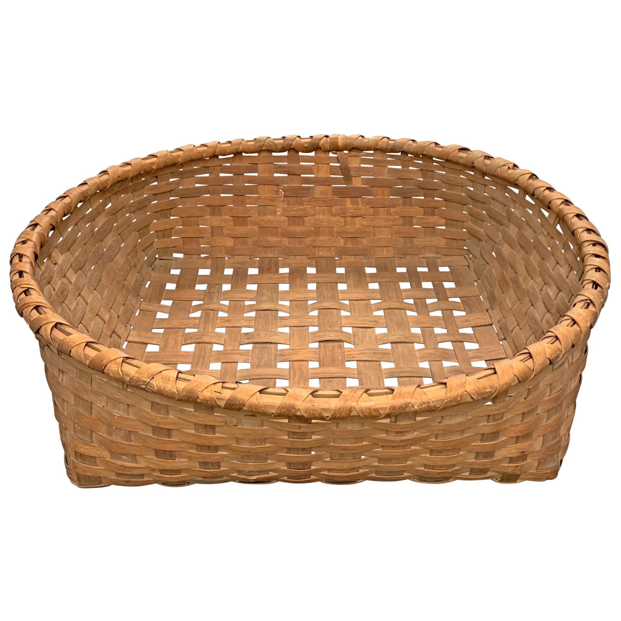 Rather Large 19th Century Split Oak Basket