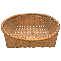 Rather Large 19th Century Split Oak Basket