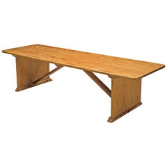 Rationalist Dining Table in Melis Pine