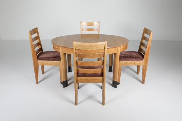Modern Rationalist Oval Dining Set in Oak, Holland, 1920s For Sale