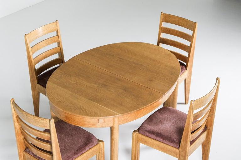 Ebonized Rationalist Oval Dining Set in Oak, Holland, 1920s For Sale