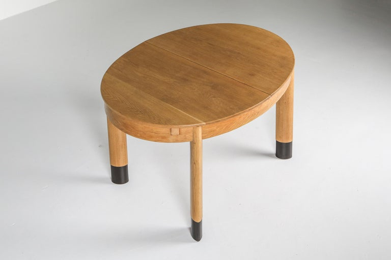 Rationalist Oval Dining Set in Oak, Holland, 1920s For Sale 1