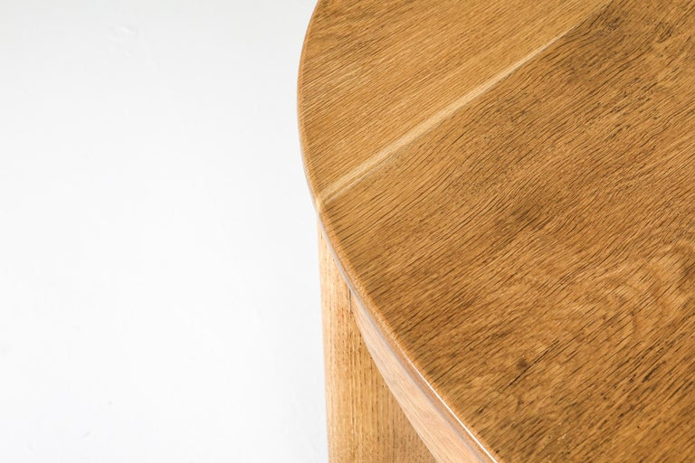 Rationalist Oval Dining Set in Oak, Holland, 1920s For Sale 2
