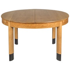 Rationalist Oval Dining Table in Oak, Holland, 1920s