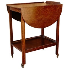 Rationalist Wood Bar Cart, circa 1960