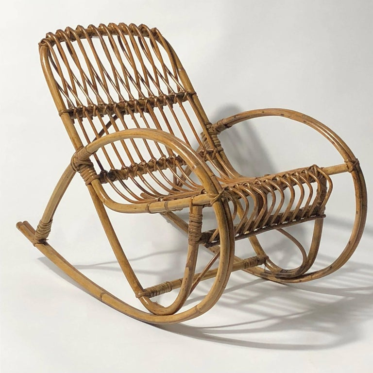 This children's rocking chair was attributed to Franco Albini and manufactured during the 1950s.
