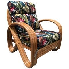 Rattan 3/4 Pretzel Lounge Chair