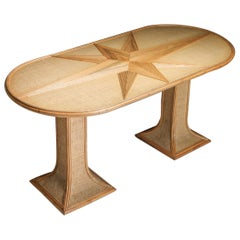 Rattan and Bamboo Table by Vivai del Sud