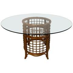 Rattan Fretwork Dining Table