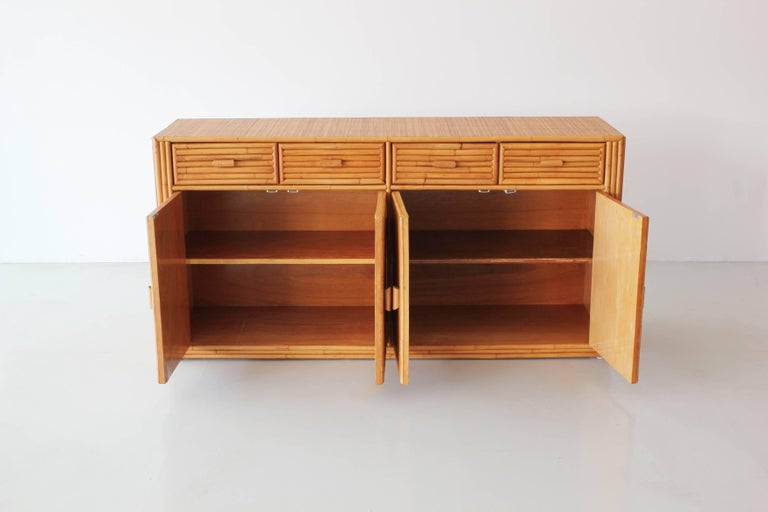 Rattan and Caned Cabinet For Sale 1